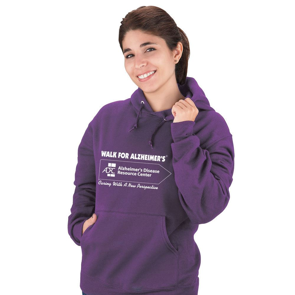 Purple 50/50 Cotton/Poly 8 Oz. Adult-Size Pill Resistant Sweatshirt - Personalization Available