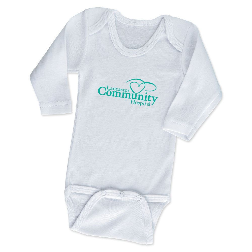 Rabbit Skins® White Long Sleeve Infant Onesie - Personalization Available