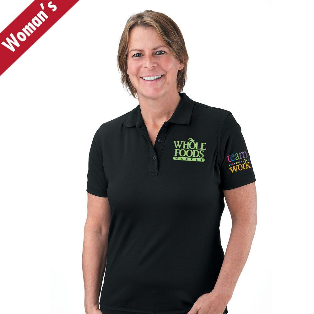 Teamwork Women's Mesh Pique Polo - Personalization Available