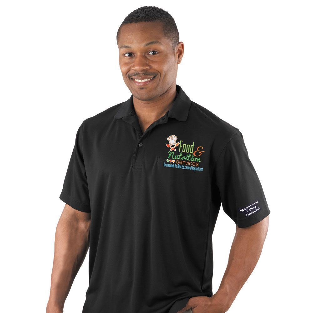 Food & Nutrition Services: Teamwork Is Our Essential Ingredient Men's Mesh Pique Polo
