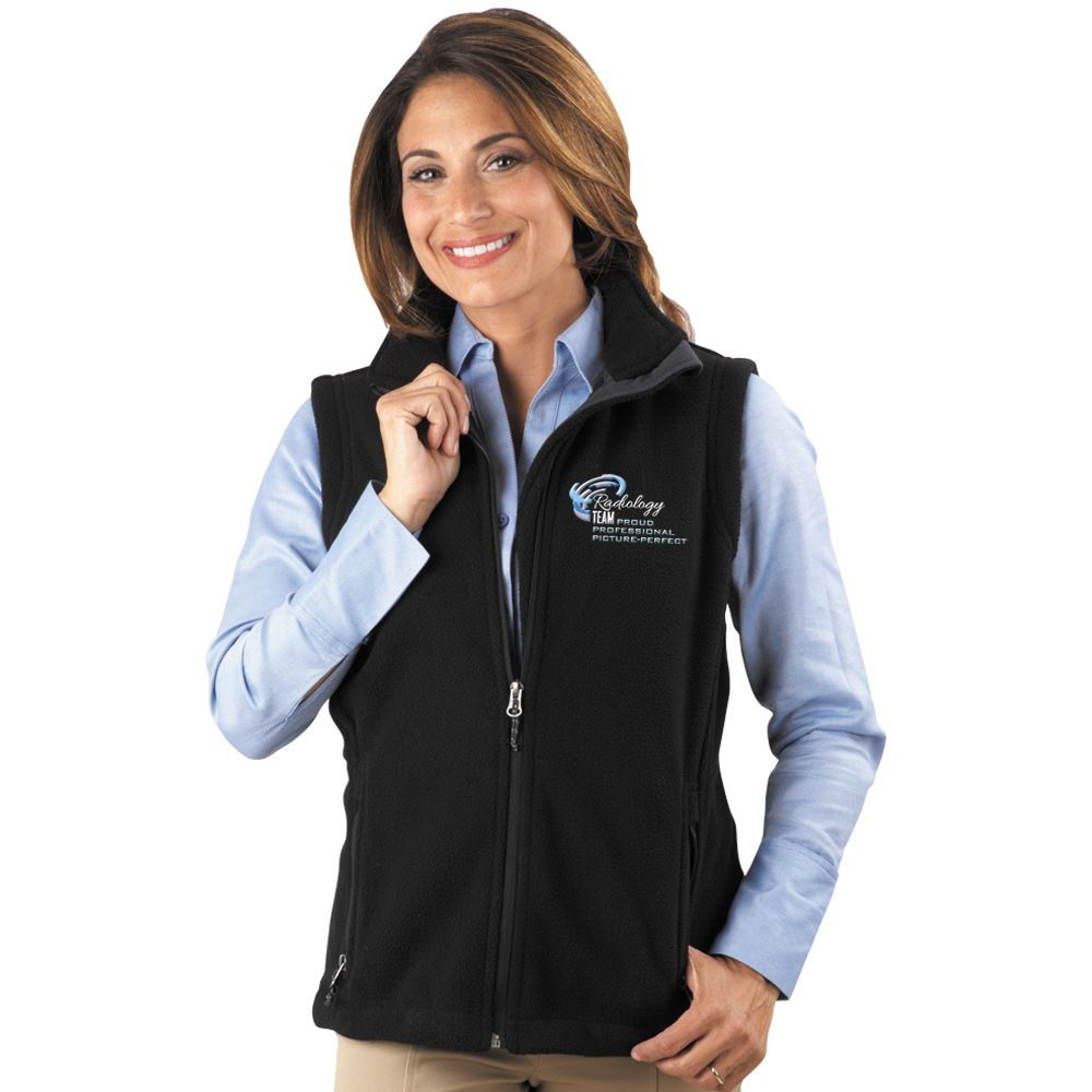Women's Quilted Outdoor Jacket (Black w/White Embroidery)