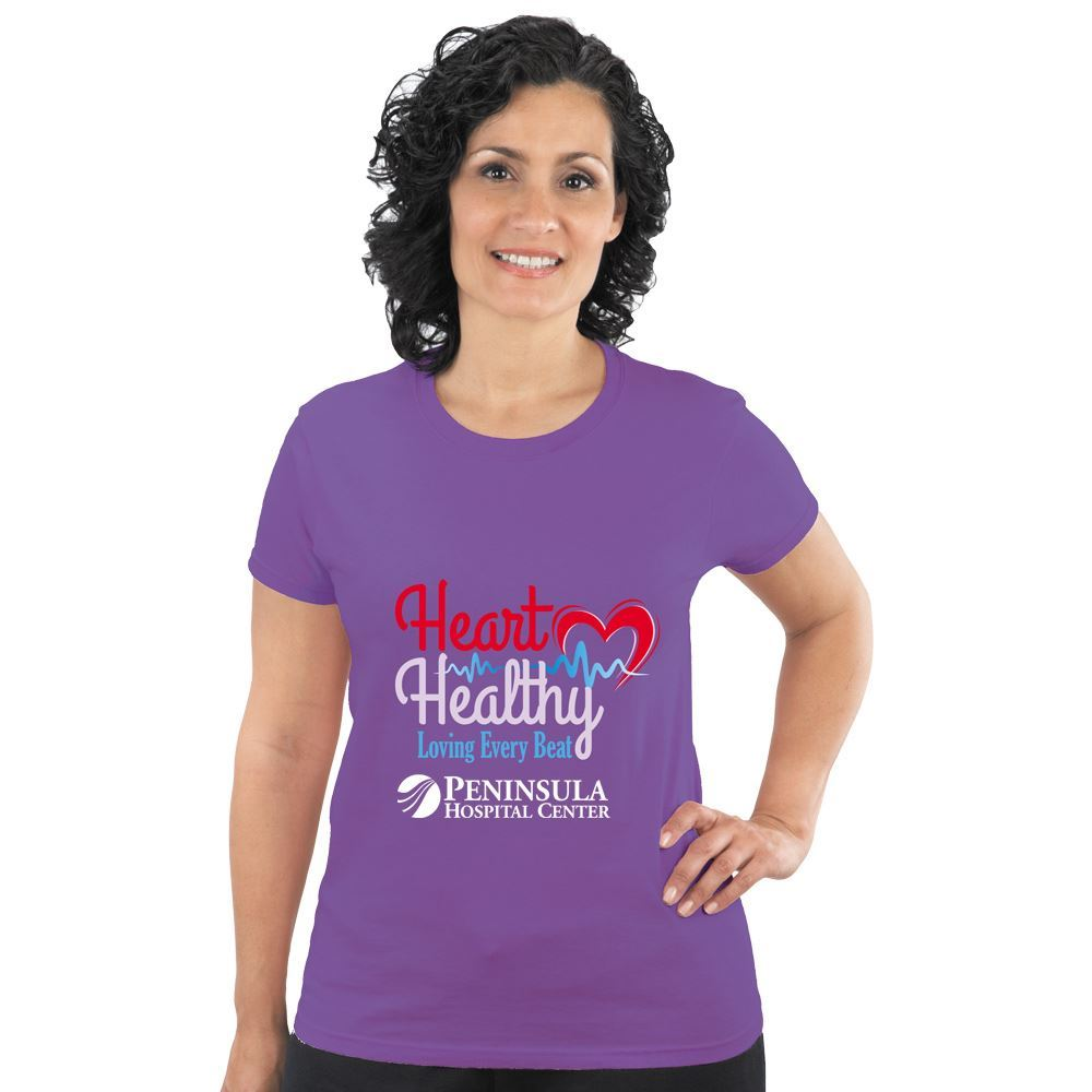 Heart Healthy Loving Every Beat Heart Health Awareness Women's T-Shirt - Personalization Available