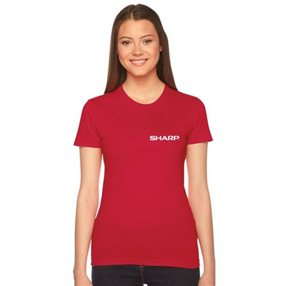American Apparel® Women's Fine Jersey Short-Sleeve T-Shirt - Silkscreen Personalization Available