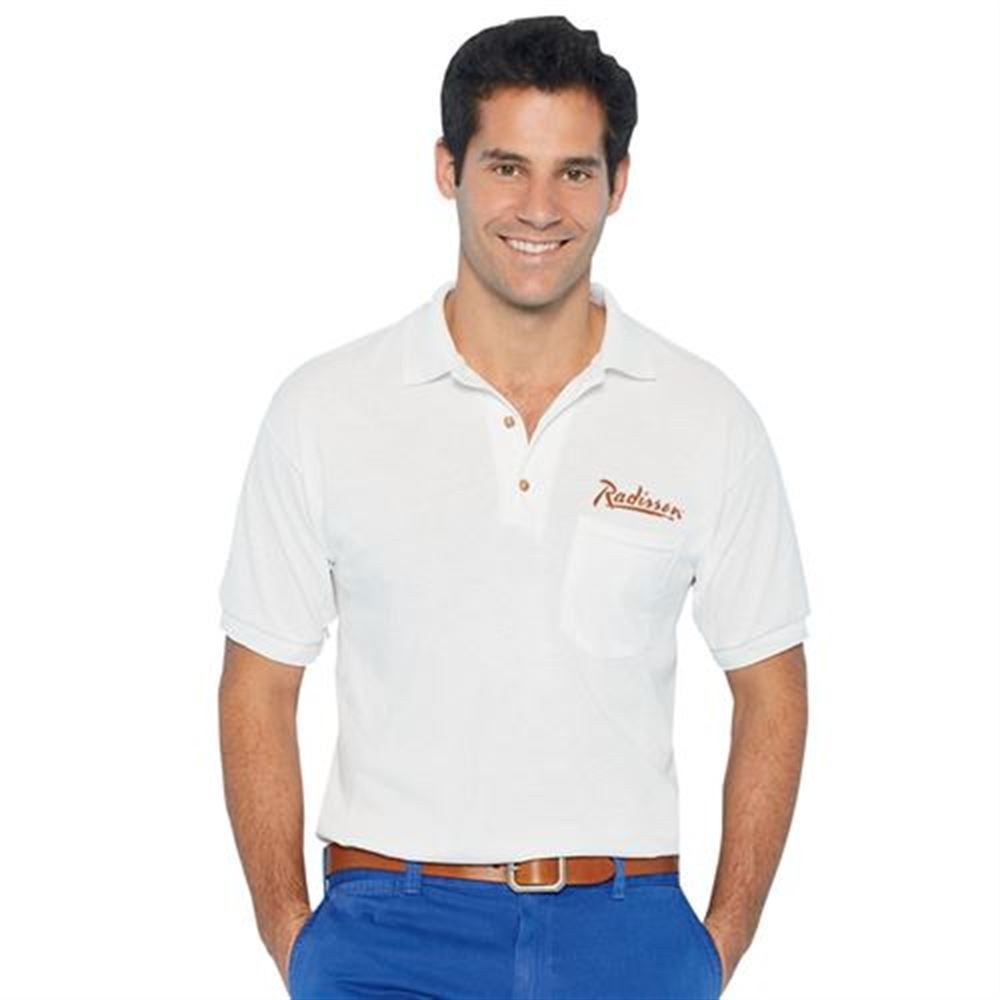 Gildan® DryBlend® 6-oz. 50/50 Jersey Polo With Pocket - Embroidery Personalization Available