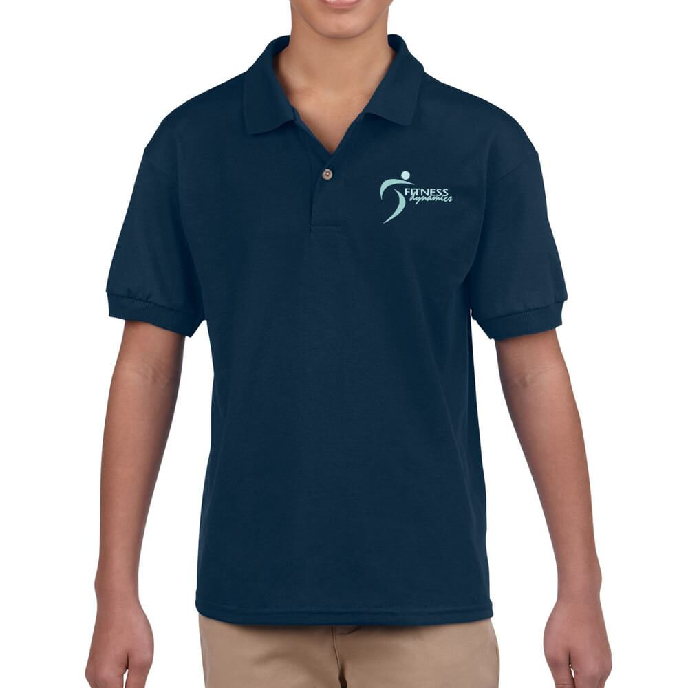 Gildan® Dryblend® Youth 50/50 Jersey Polo: Premium Colors - Embroidery Personalization Available