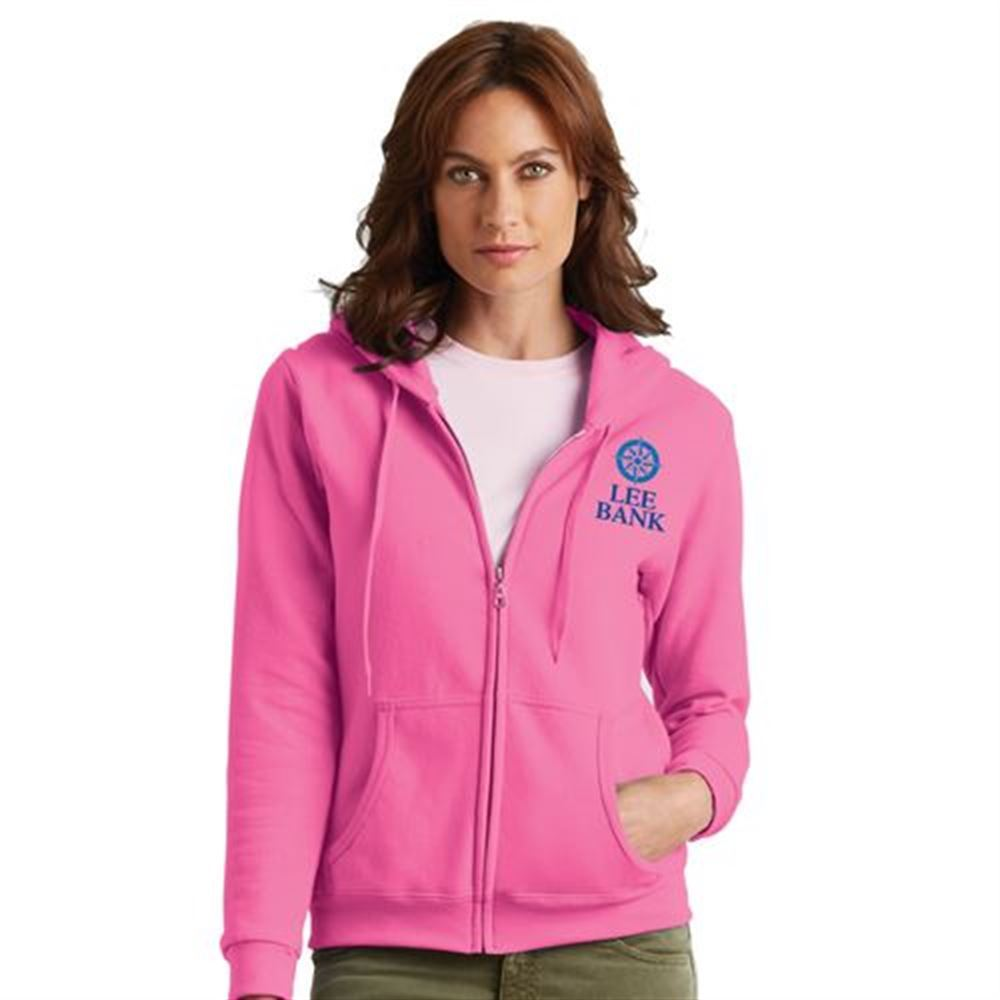 Gildan® Heavy Blend™ 8-oz. Women's 50/50 Full-Zip Hooded Sweatshirt - Silkscreen Personalization Available