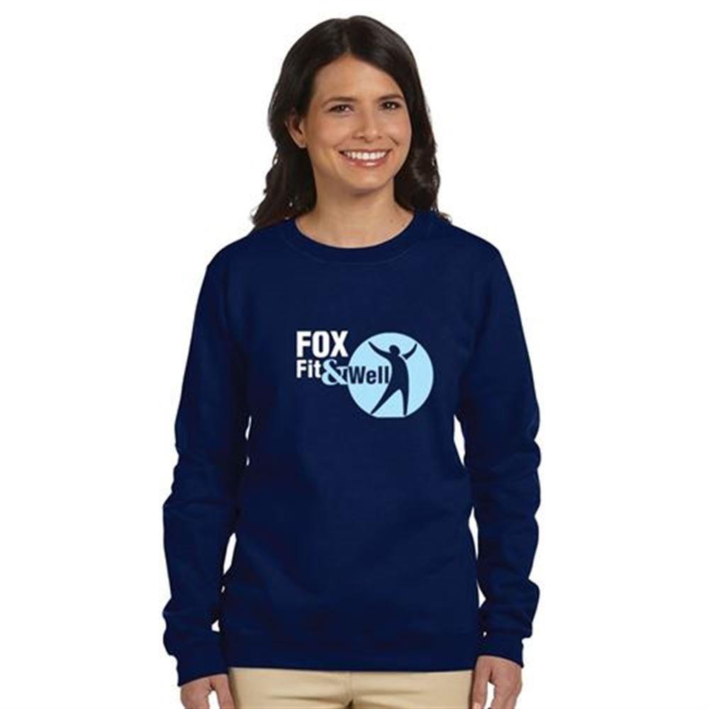 Gildan® Heavy Blend™ 8-oz. Women's 50/50 Fleece Crew Shirt - Silkscreen Personalization Available
