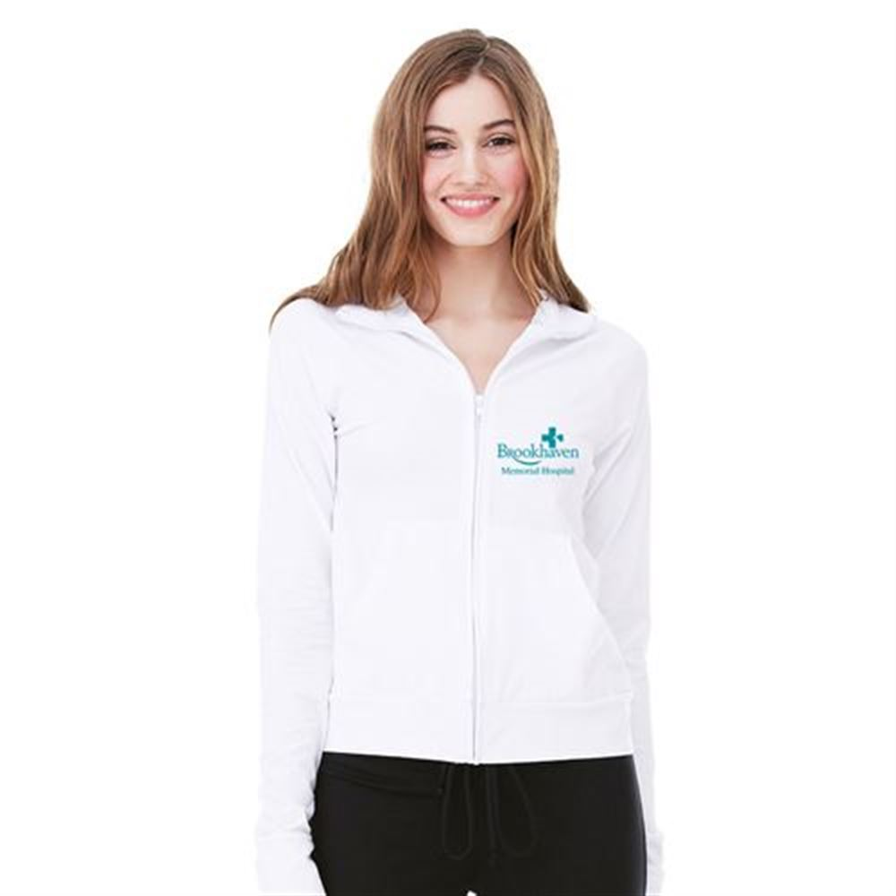 Bella + Canvas® Ladies' Cotton/Spandex Cadet Jacket - Silkscreen Personalization Available
