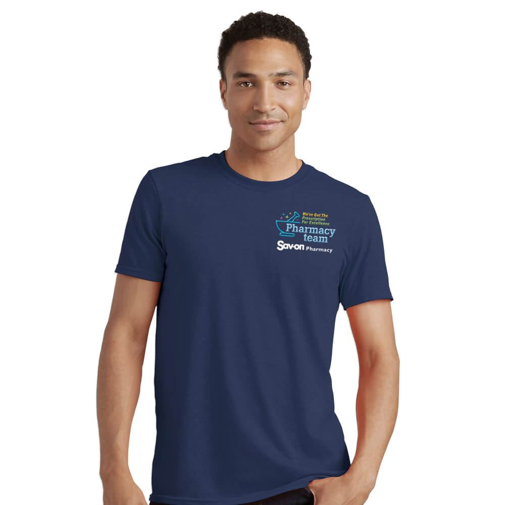 Pharmacy Team Men's Short-Sleeve 100% Cotton T-Shirt - Personalized