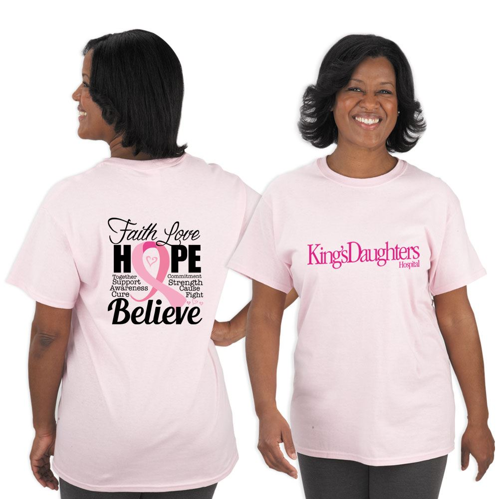 Faith Love Hope Believe Awareness T-Shirt With Personalization