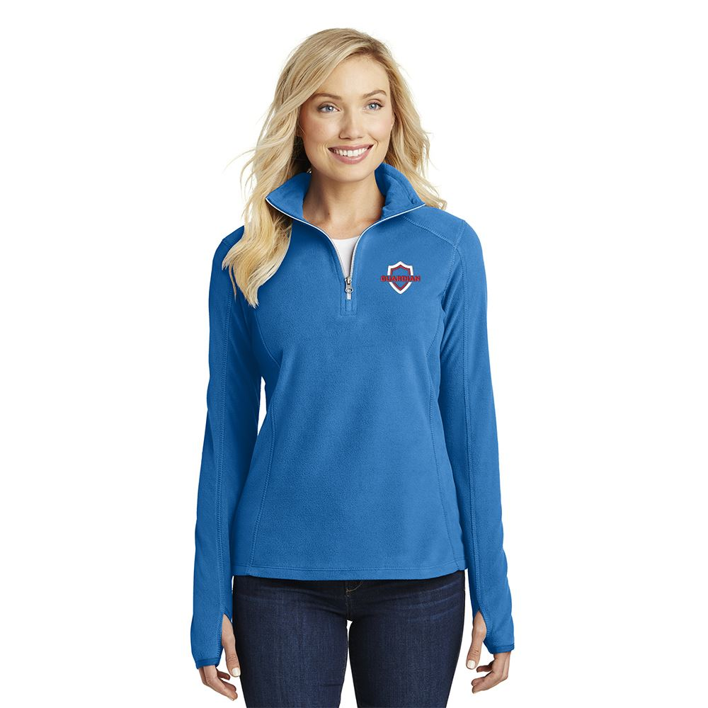 Port Authority® Women's Microfleece Half-Zip Pullover Jacket - Embroidery Personalization Available