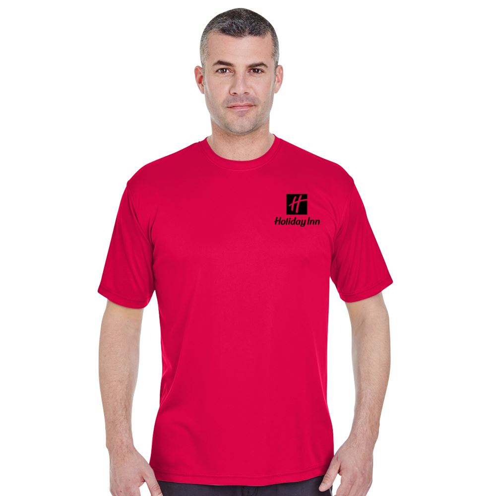 Men's Ultraclub® Cool & Dry Basic Performance T-Shirt - Silkscreen Personalization Available
