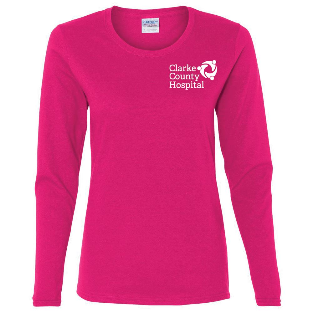 Gildan® Women's Heavy Cotton Long Sleeve T-Shirt: Premium Colors - Personalization Available