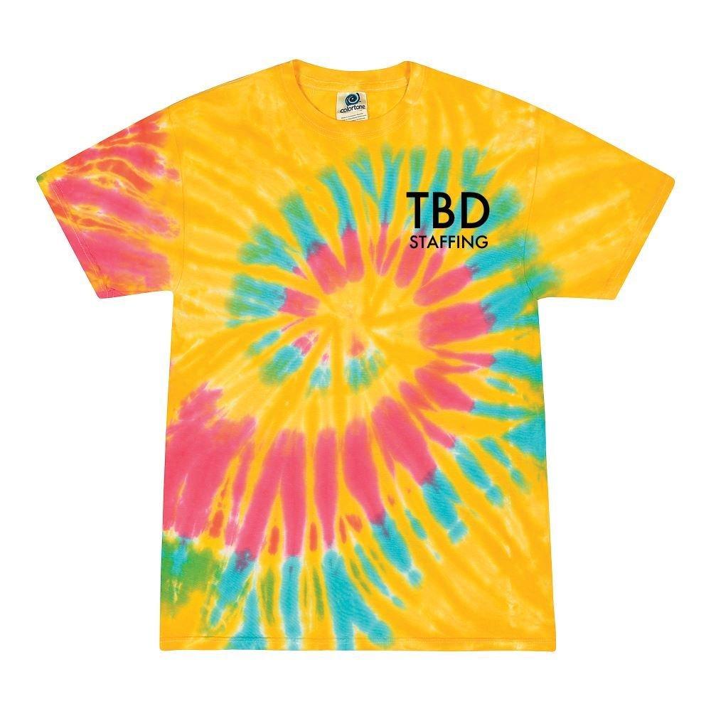 Tie-Dye Cotton Unisex Short-Sleeve T-Shirt - Silkscreen Personalization Available