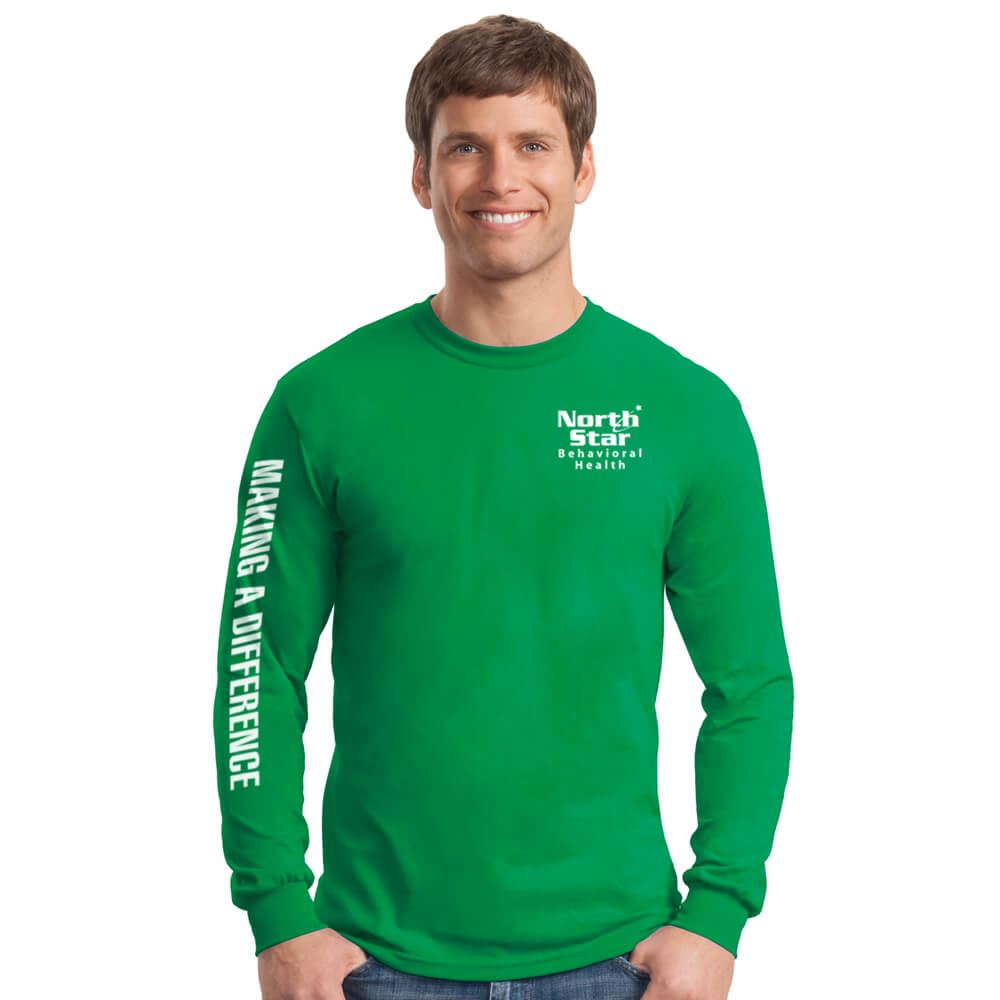 Making A Difference Men's Long Sleeve T-Shirt - Personalized