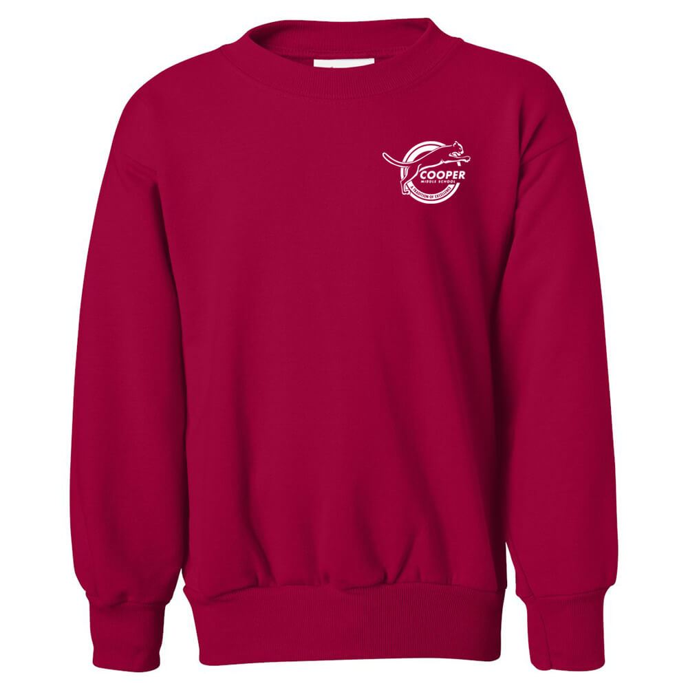 Hanes® Ecosmart Youth Crewneck Sweatshirt - Personalization Available