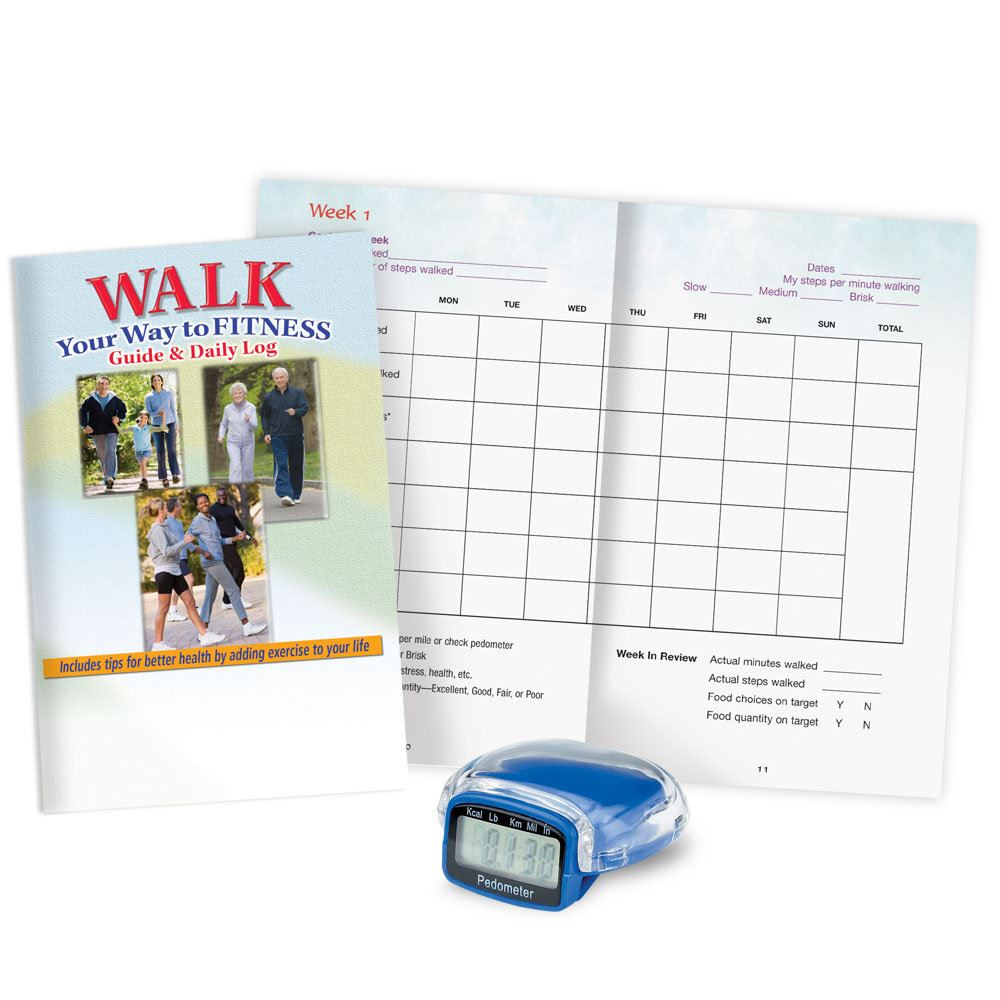 Multi-Function Pedometer With Walk Your Way To Fitness Walker's Guide