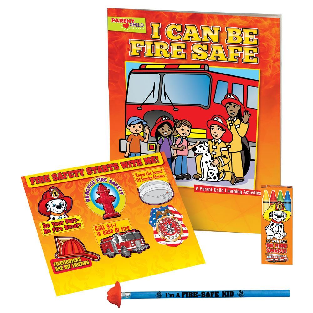 I Can Be Fire Safe Grades Pre-K - K Fire Safety Educational Activity Pack
