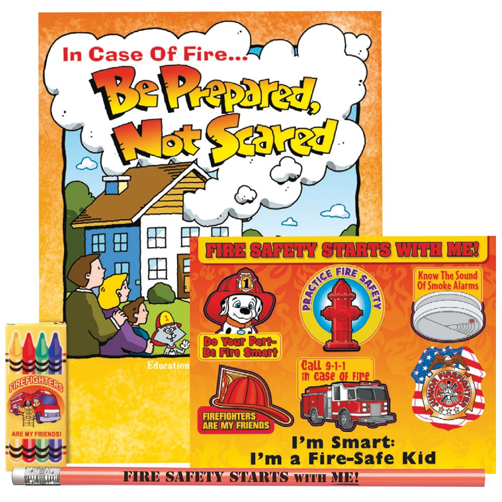 In Case Of Fire Be Prepared, Not Scared Grades 2-3 Fire Safety Educational Activity Pack