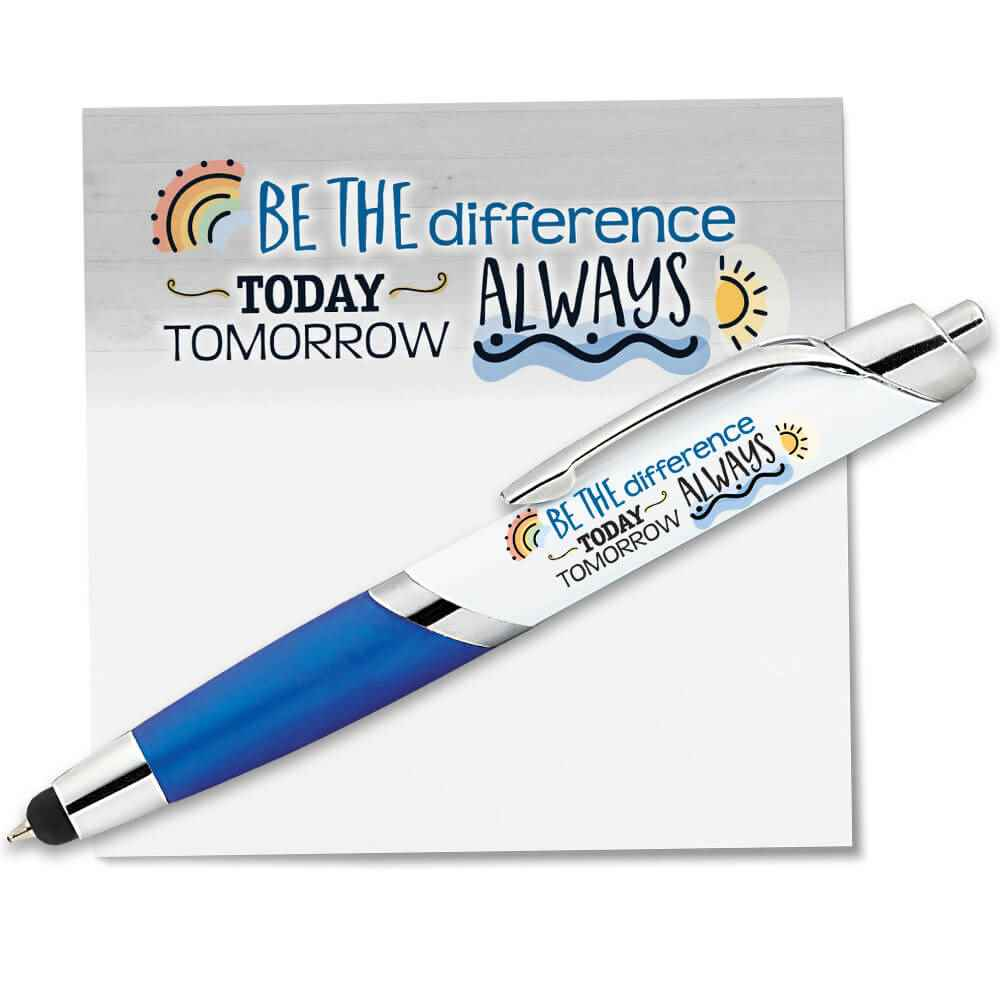 Be The Difference: Today, Tomorrow, Always Sticky Pad & Pen Combo Set