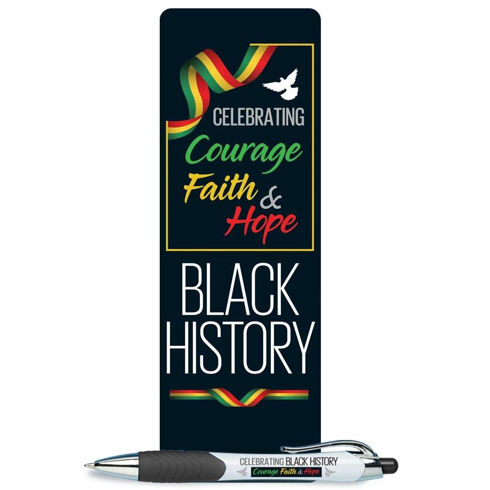 Black History: Celebrating Courage, Faith & Hope Bible Marker and Stylus Pen Combo