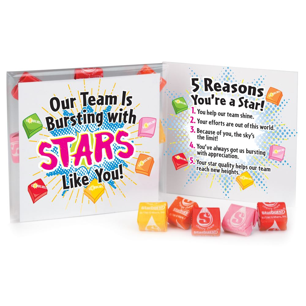 Our Team Is Bursting With Stars Like You! Starburst® Fruit Chews Treat Pack