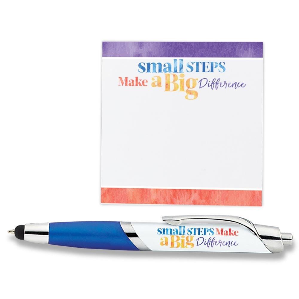 Small Steps Make A Big Difference Sticky Pad & Pen Set
