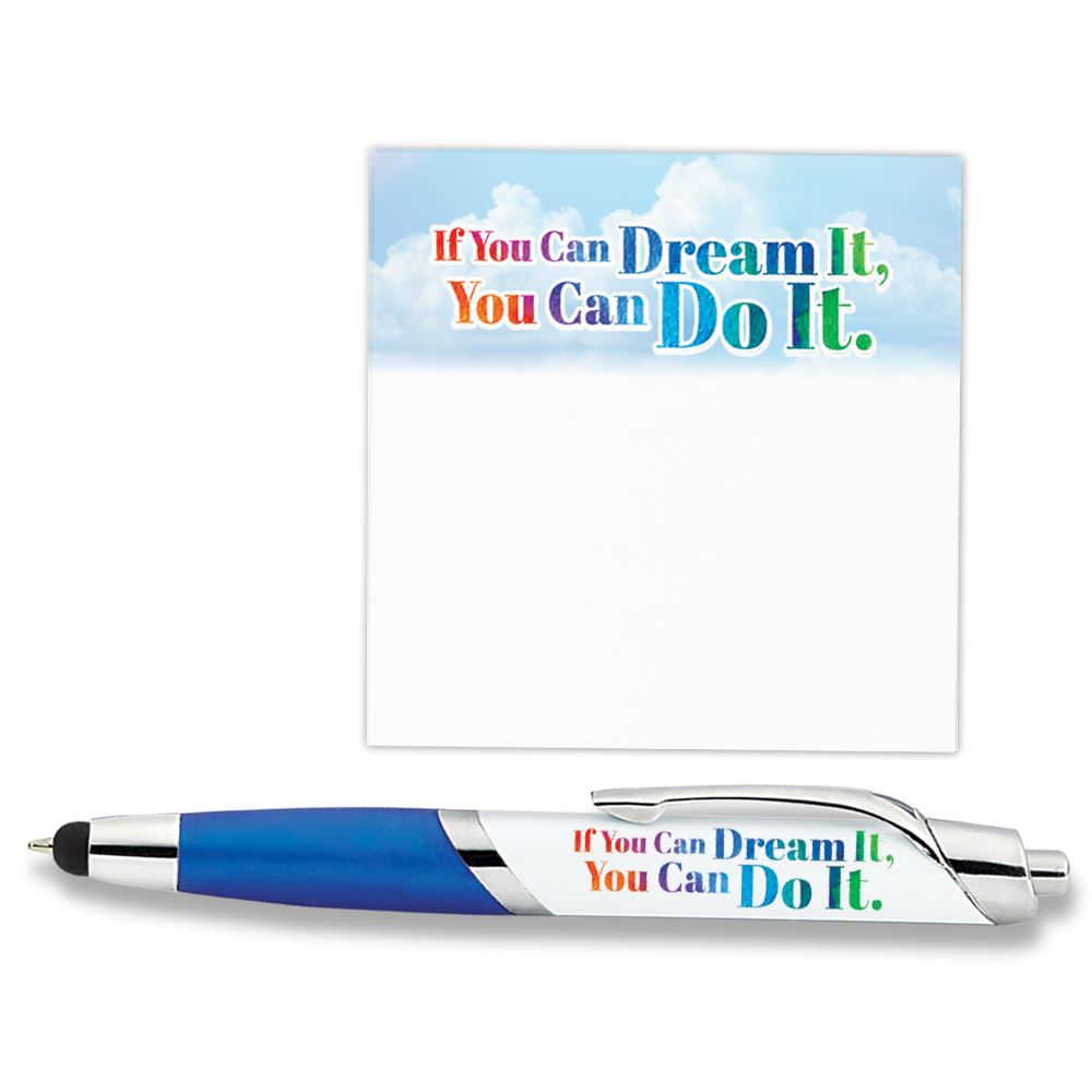 If You Can Dream It You Can Do It Sticky Pad & Aventura Stylus Pen