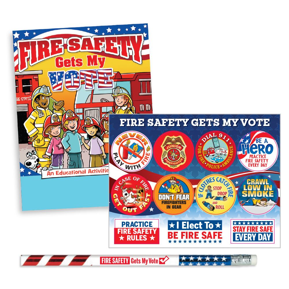 Fire Safety Gets My Vote 99¢ Value Kit