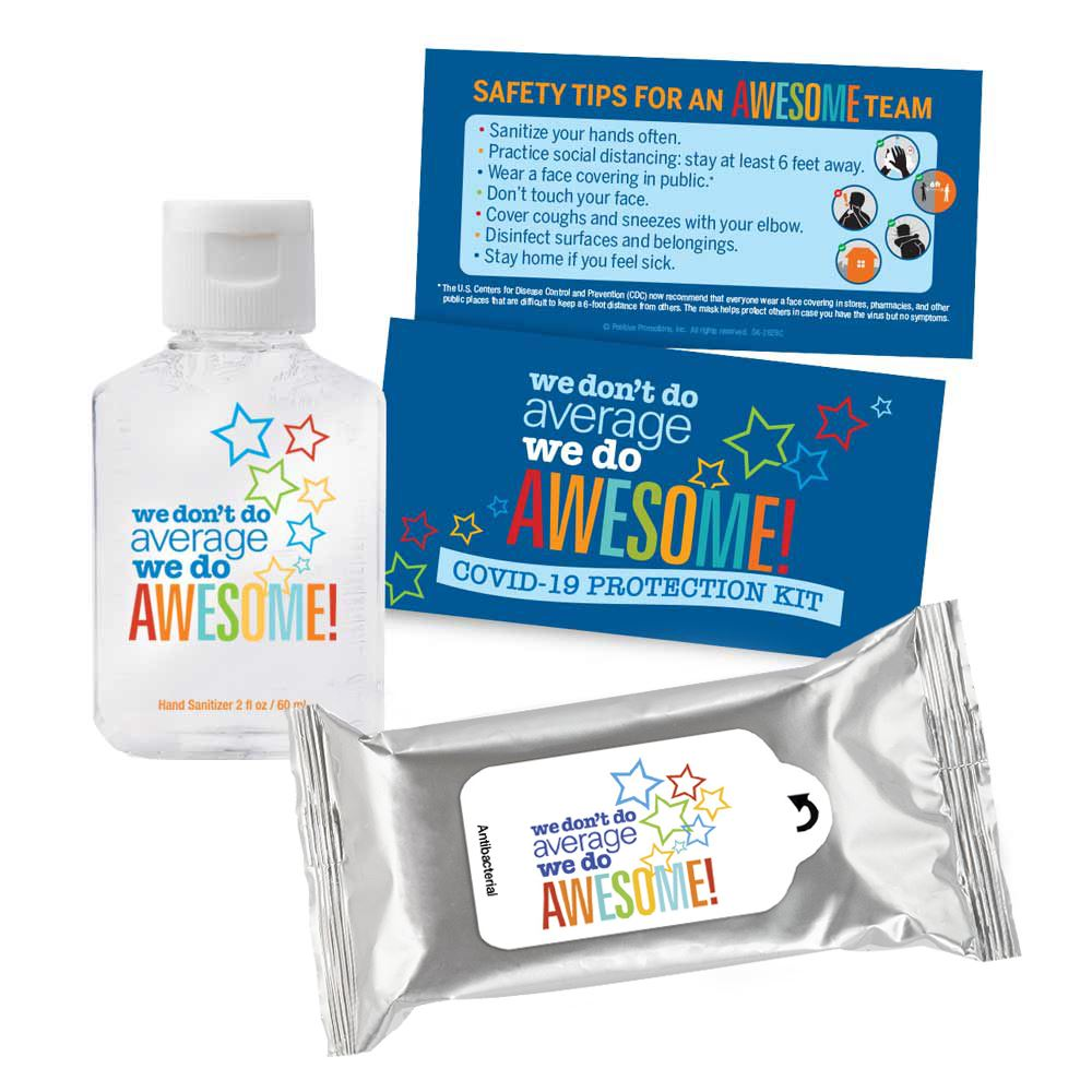 We Don't Do Average We Do Awesome Positive Message Self-Protection Kit