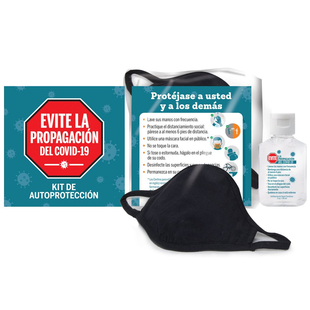 Stop The Spread Of COVID-19 Self-Protection Kit - Spanish Version