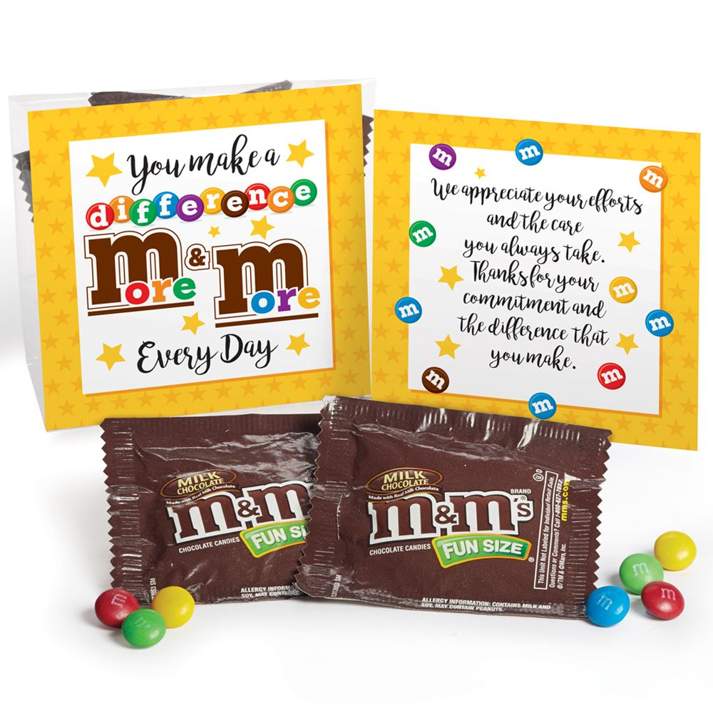 You Make A Difference More & More Every Day M&M's Snack Pack