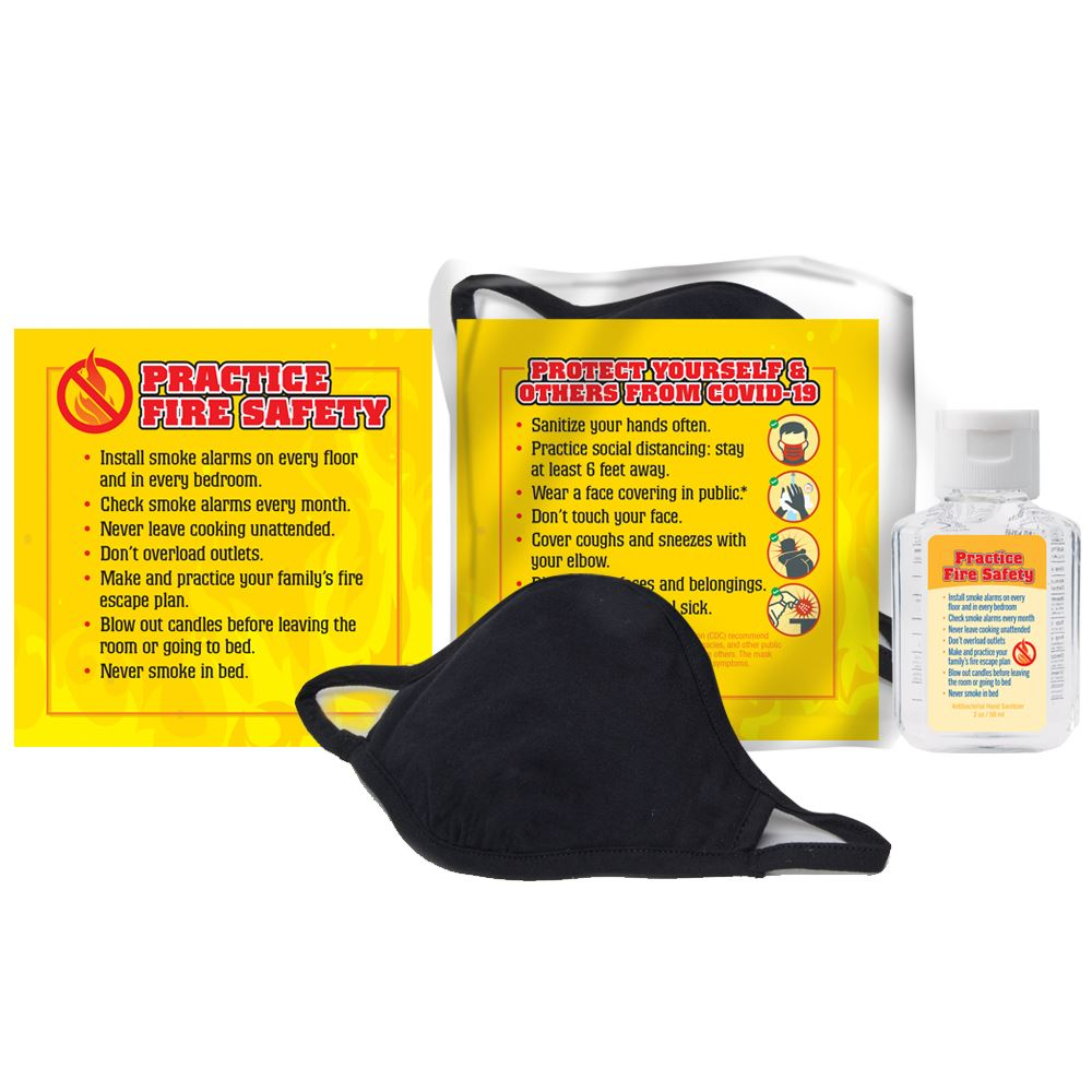 Practice Fire Safety & Fight COVID-19 Self-Protection Kit