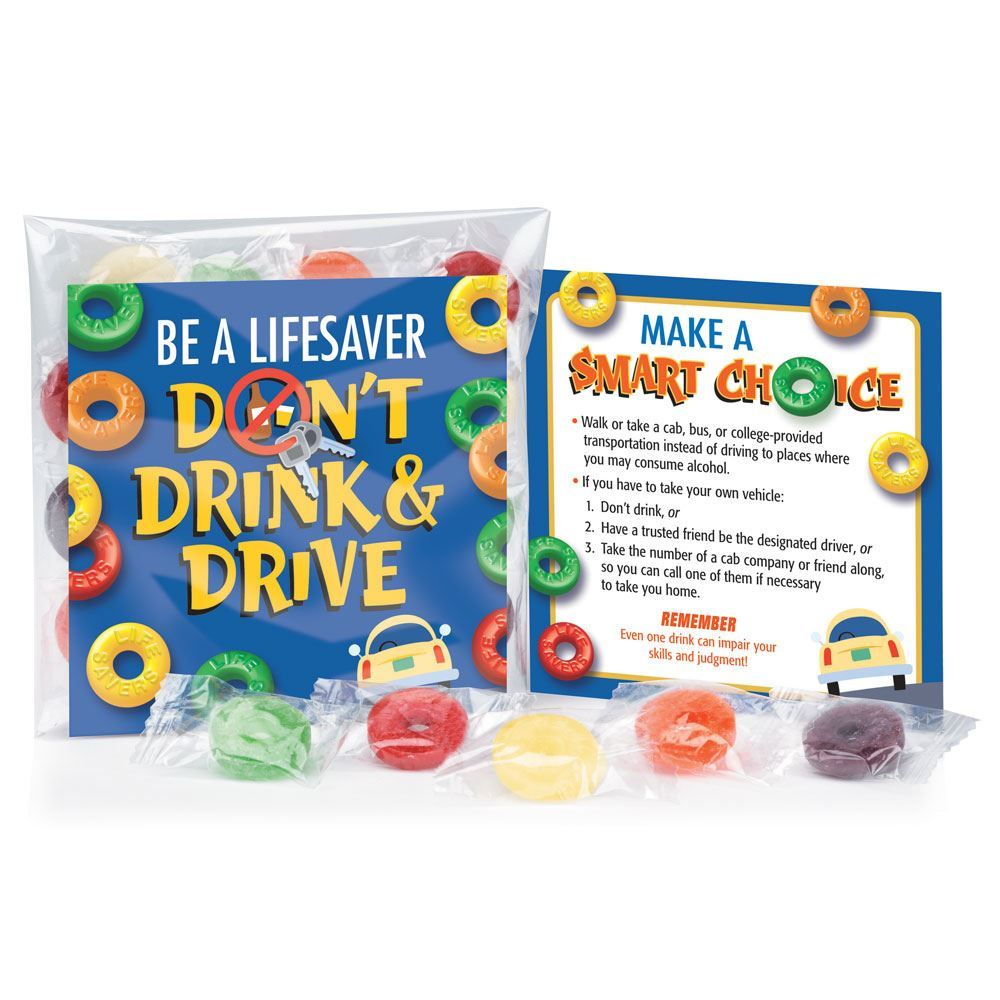 Be A Lifesaver... Don't Drink & Drive Treat Pack