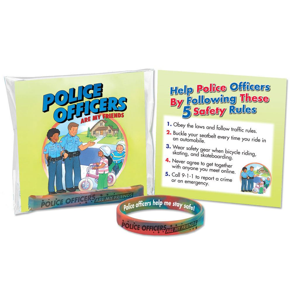 Police Officers Are My Friends Silicone Wristband & Card