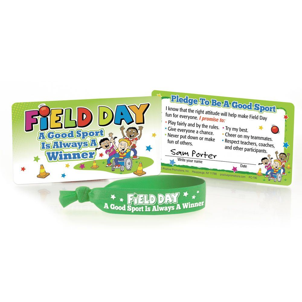 Field Day: A Good Sport Is Always A Winner Stretch Band With Pledge Card