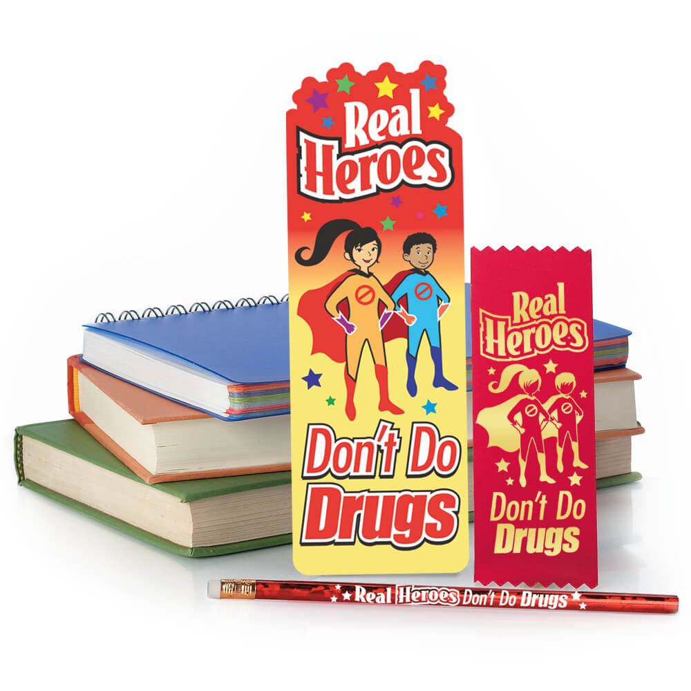 Real Heroes Don't Do Drugs Kits - Pack of 25