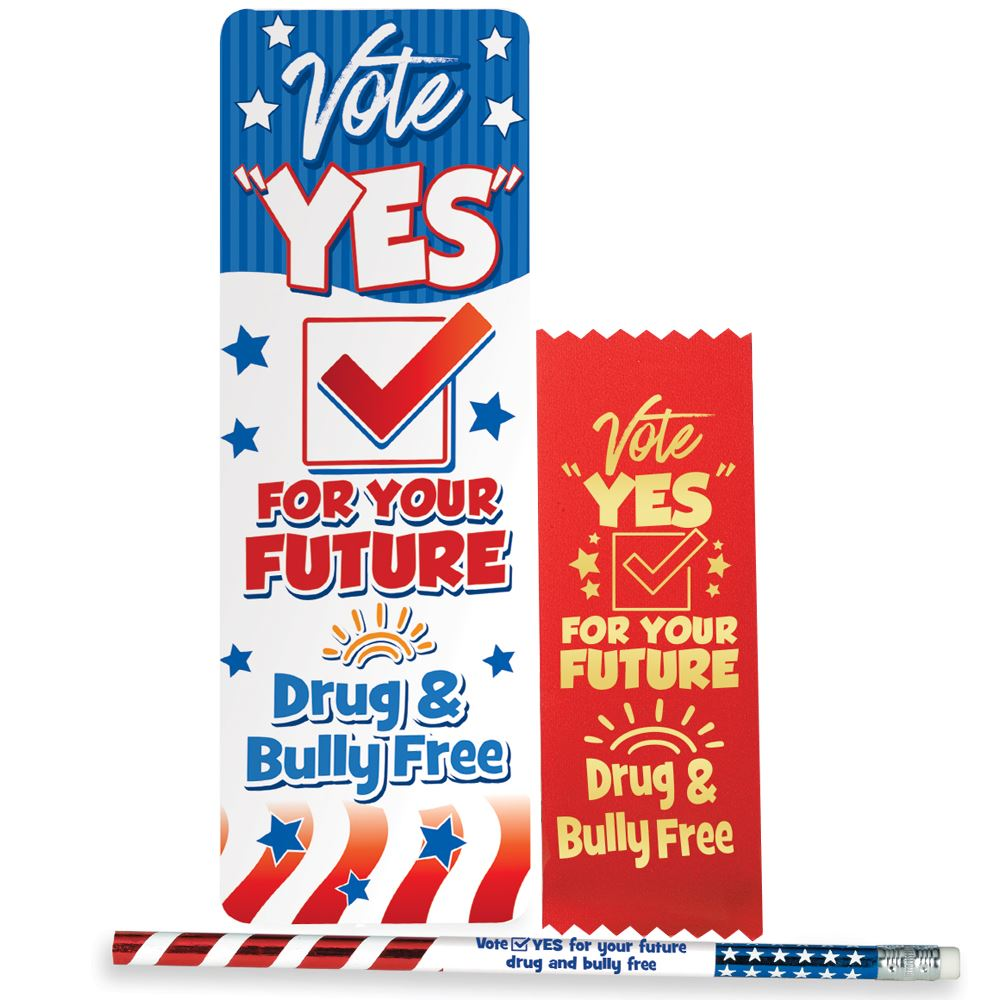 Vote Yes For Your Future Drug & Bully Free Kit - Pack of 25
