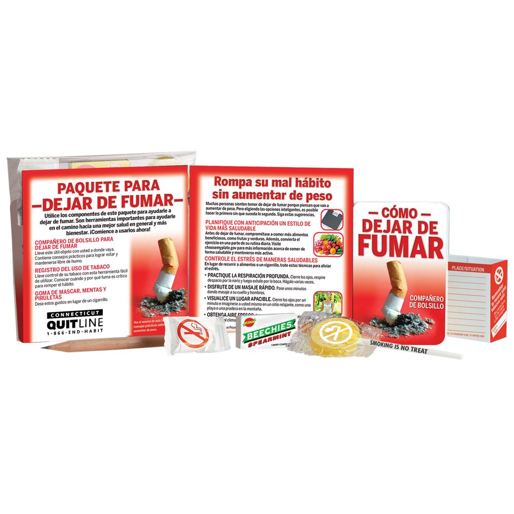 Stop Smoking Kit With Personalized Card - Spanish
