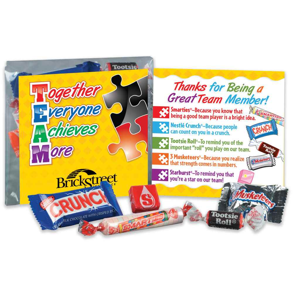 TEAM (Together Everyone Achieves More) Snack Kit - Personalization Available