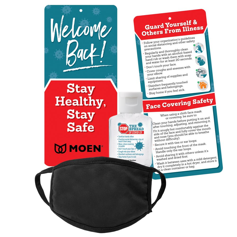 Welcome Back! Stay Healthy, Stay Safe Protective Kit - Personalization Available