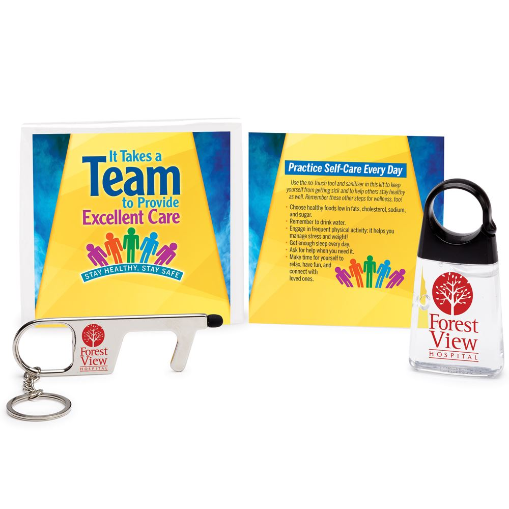 It Takes A Team to Provide Excellent Care Stay Healthy, Stay Safe Protection Kit