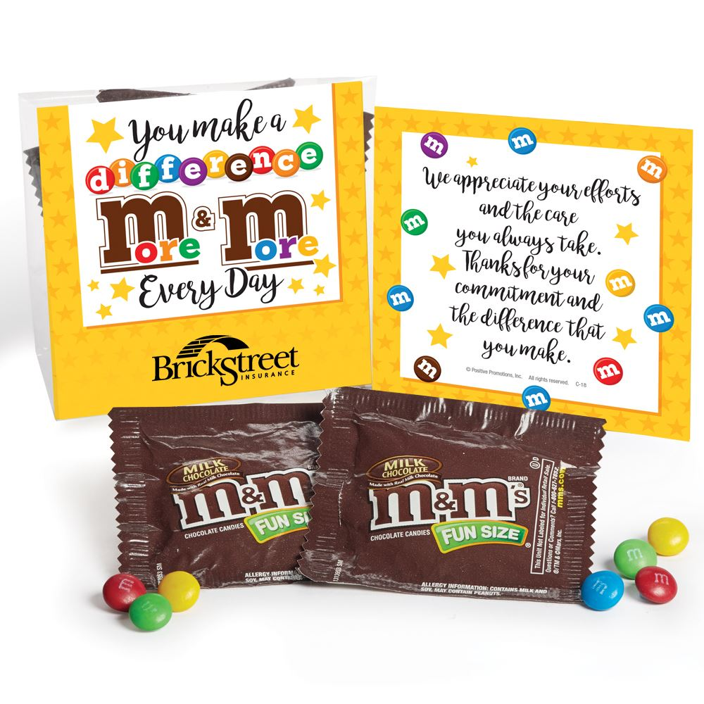 You Make A Difference More & More M&M's Snack Pack - Personalization Available