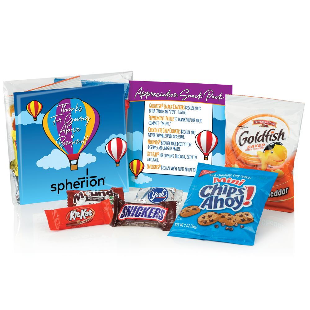 Thanks For Going Above & Beyond Snack Pack- Personalization Available
