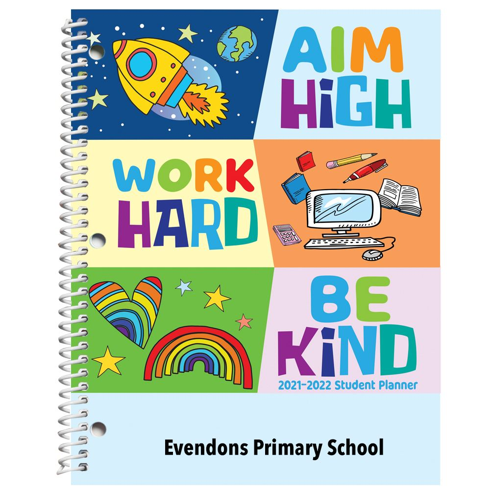 Learning Is My Super Power - Primary School Student Planner