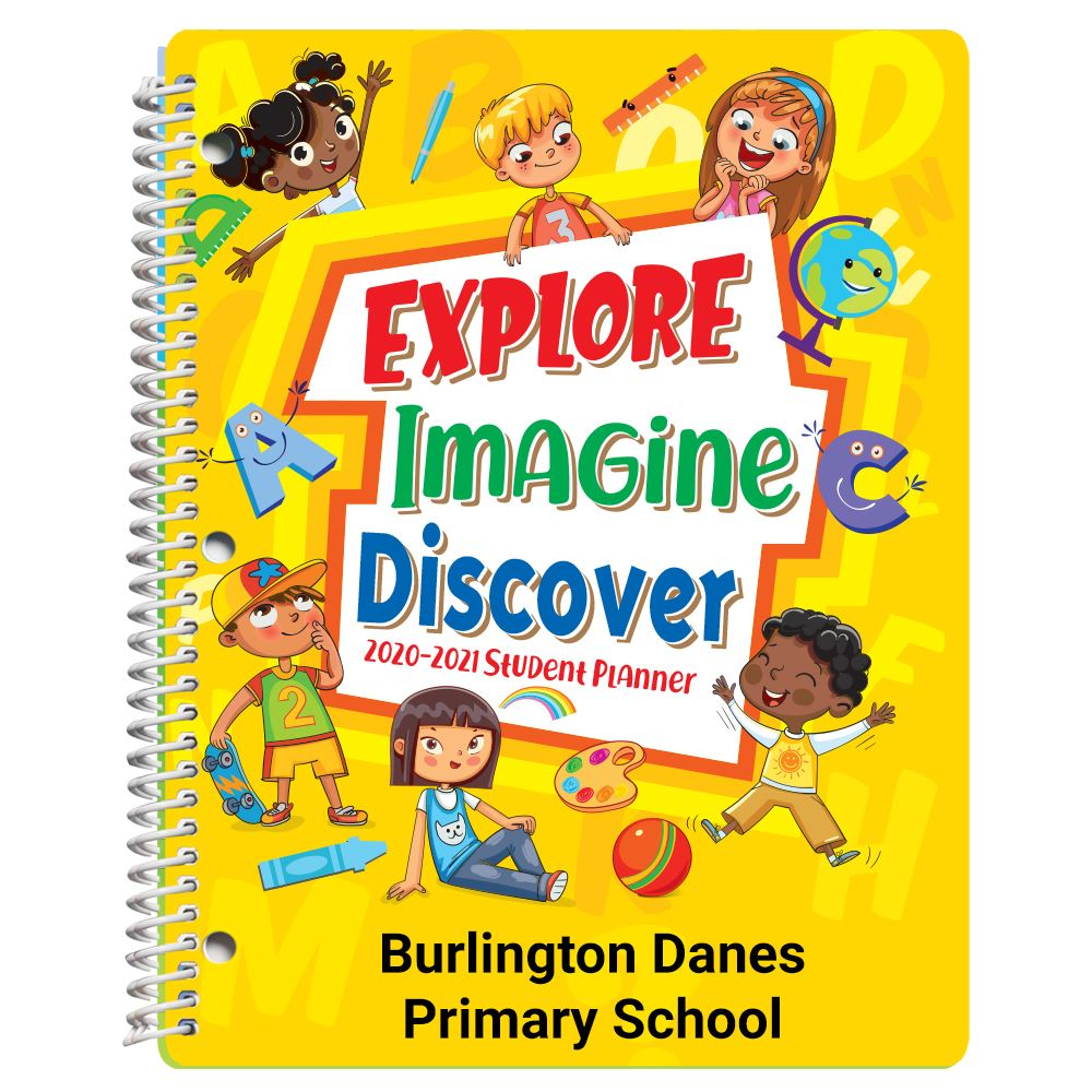 Explore, Imagine, Discover Primary School Student Planner - Personalization Available