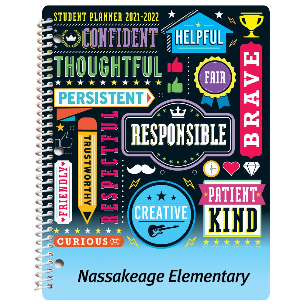 Word Cloud Elementary School Student Planner - Personalization Available