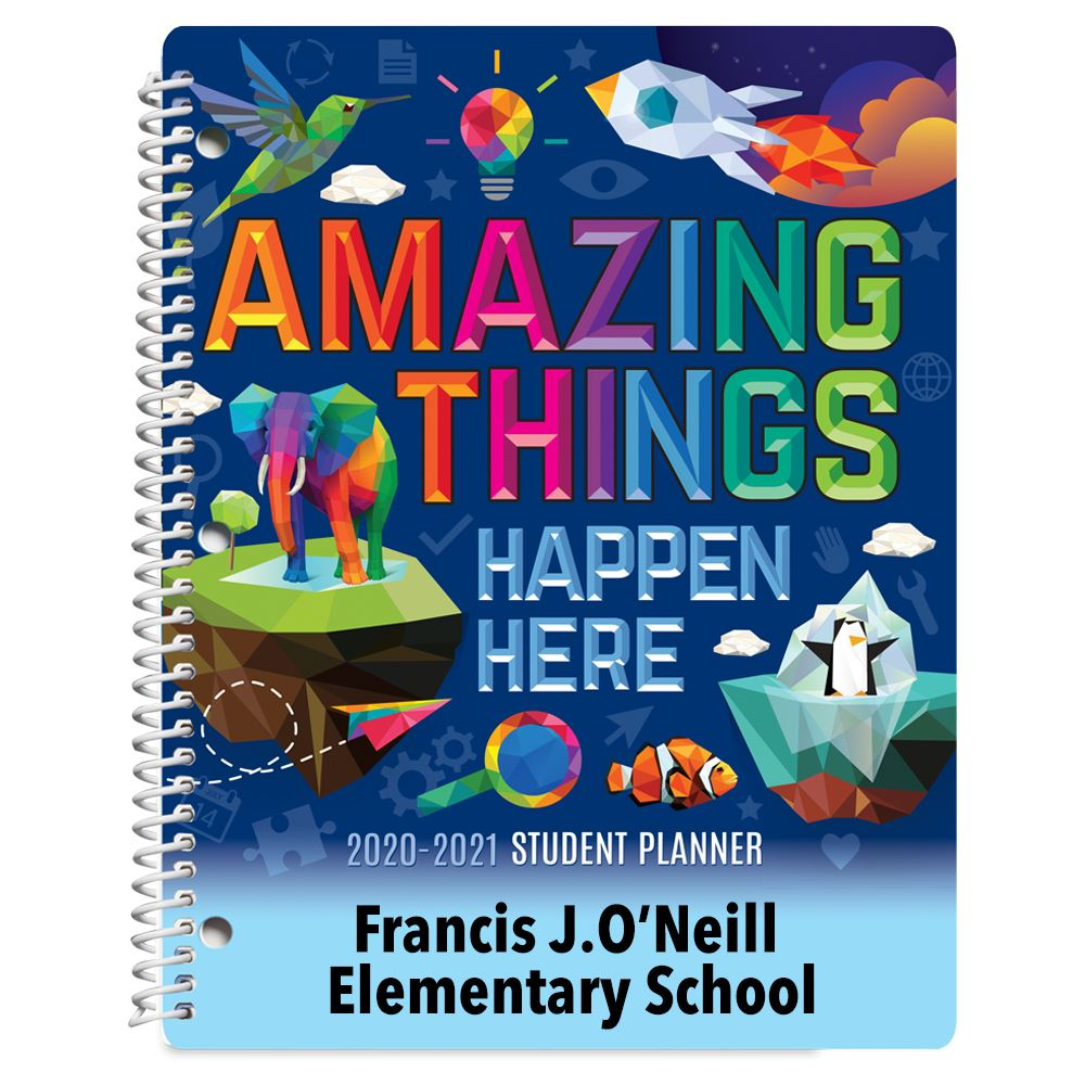 Amazing Things Happen Here Elementary School Student Planner - Personalization Available
