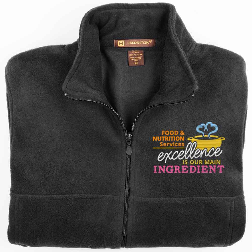 Food & Nutrition Services: Excellence Is Our Main Ingredient Harriton® Fleece Full-Zip Jacket