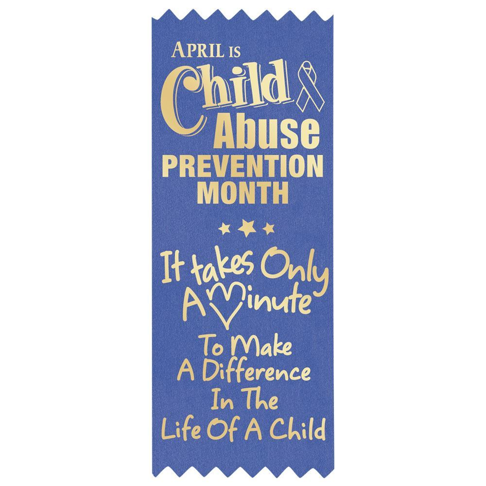It Takes Only A Minute To Make A Difference In The Life Of A Child  Satin Self-Stick Ribbons